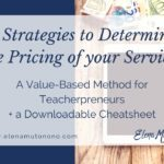 5 Strategies to Determine the Pricing of your Lessons.