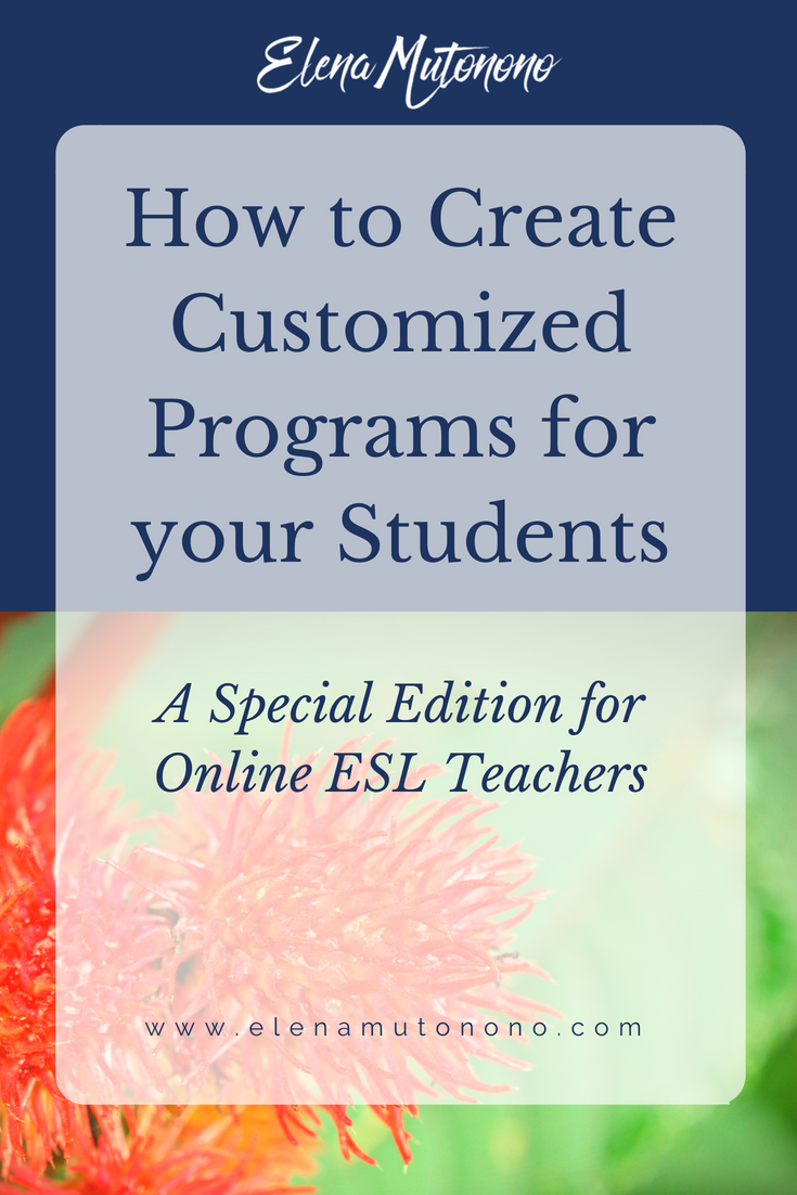 Customized Programs for ESL Students