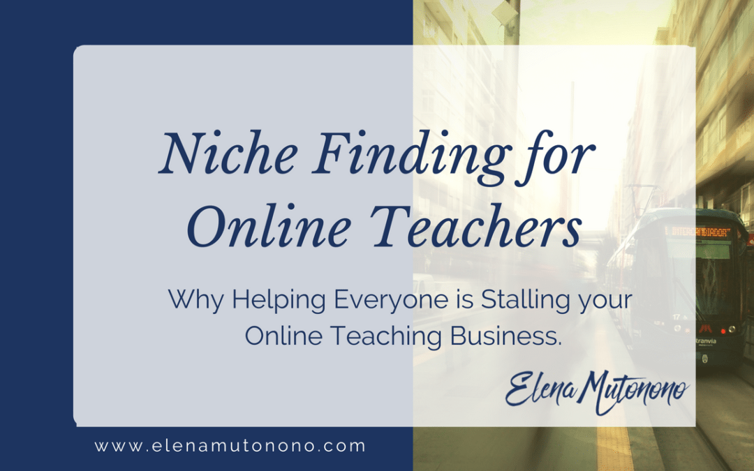 Niche finding for online teachers