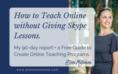 How I Learned to Teach Online Without Giving Skype Lessons