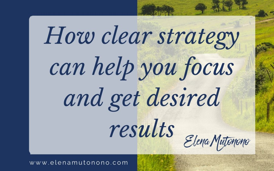 How a clear strategy helps you focus and get desired results.