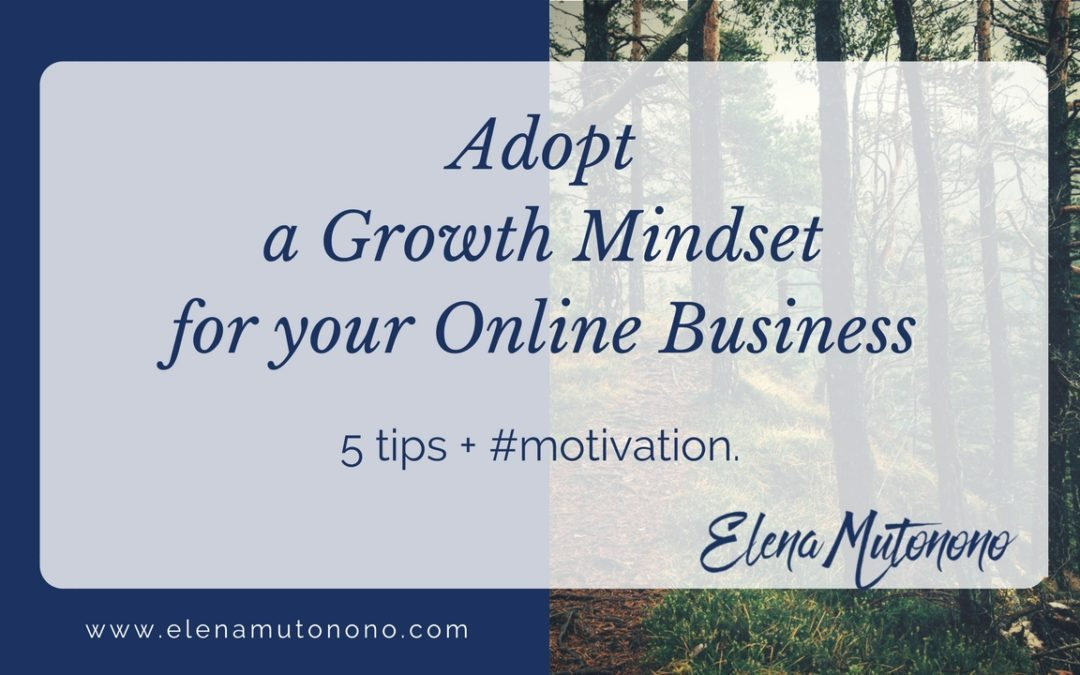 How to adopt a growth mindset for your online teaching business.