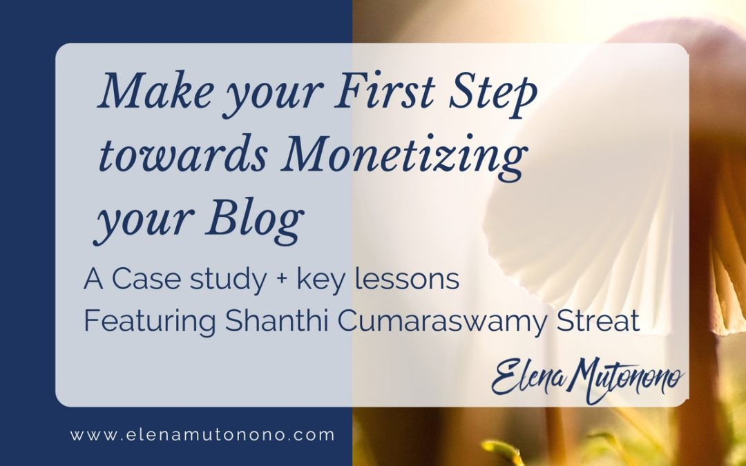 The exciting journey to monetizing your blog: Shanthi's story + key lessons