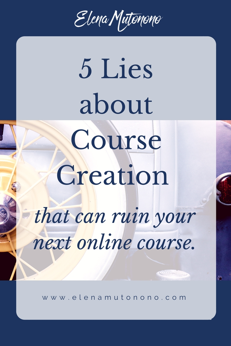 5 lies course creation