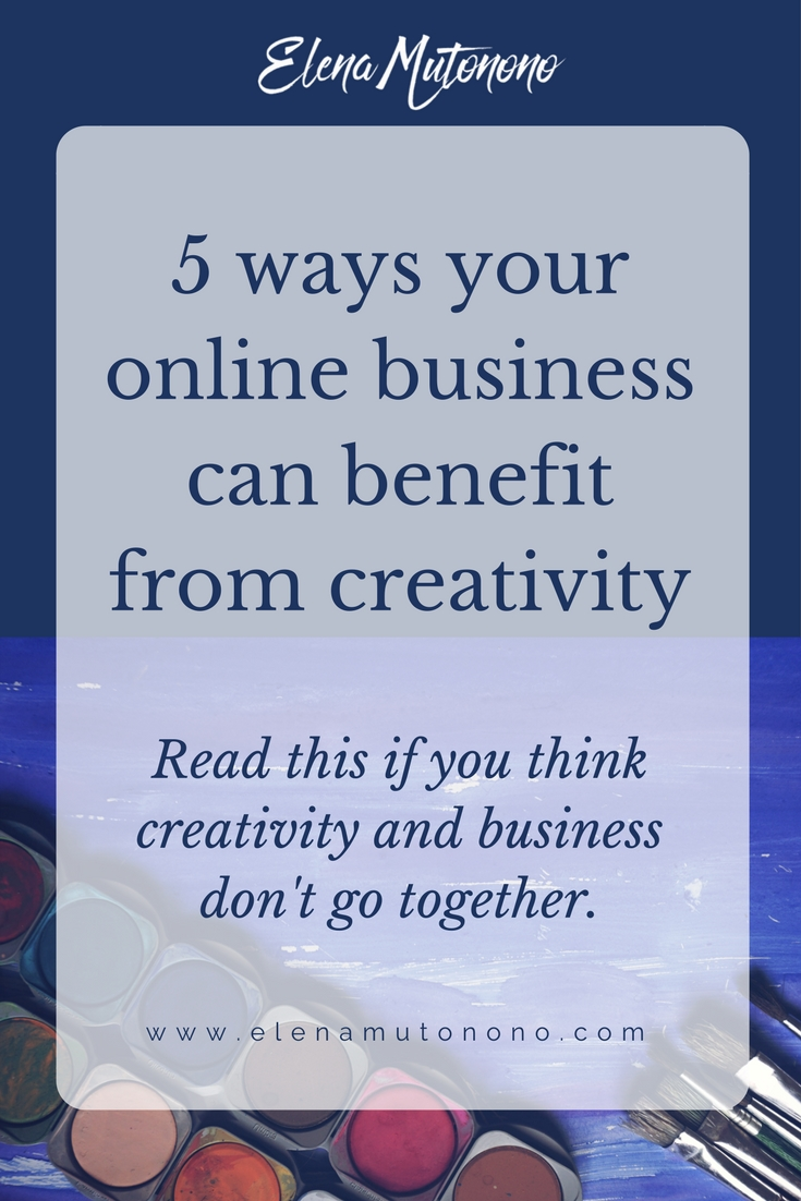In this post you will find 5 ways in which your online business can benefit from creativity. That's right! Running a business isn't only about spreadsheets.