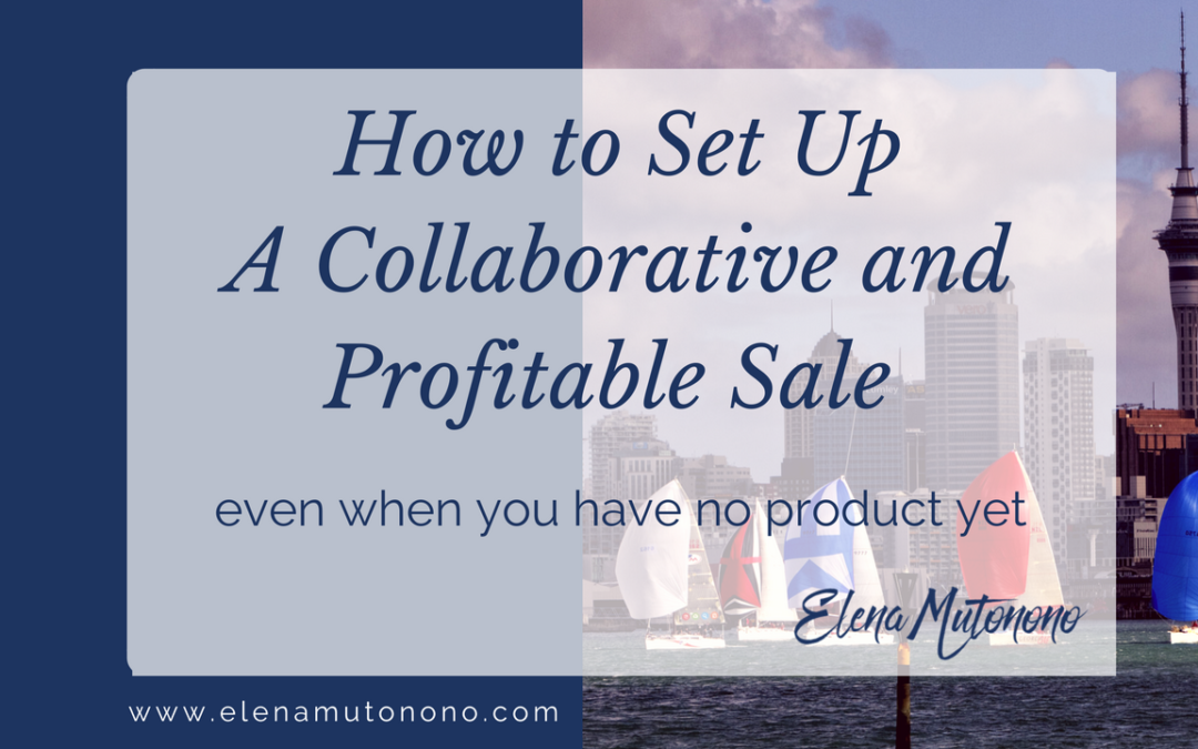 How to set up a collaborative and profitable sale even when you have no product