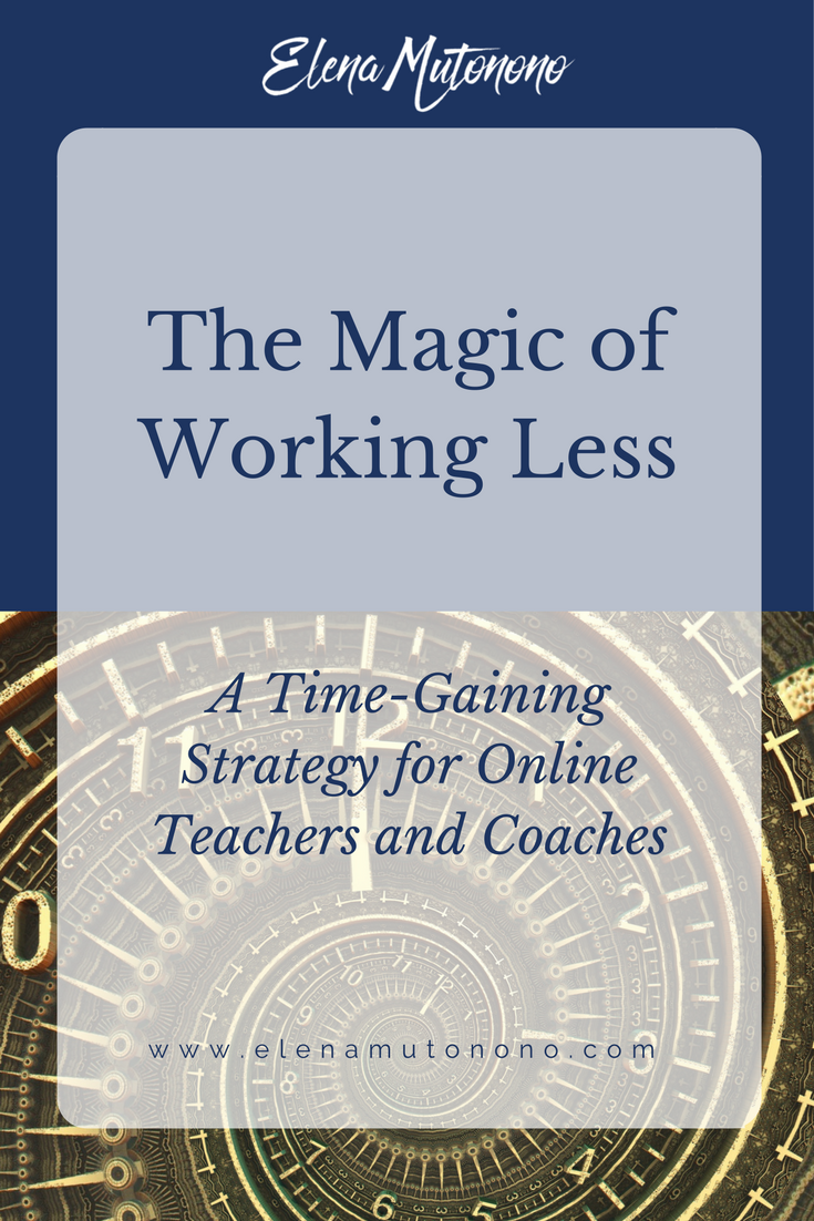 working less time