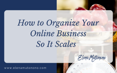 How to Organize Your Online Business So It Scales