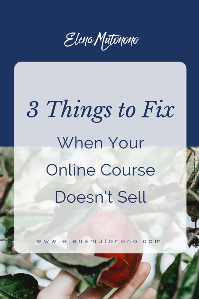 Fix online course