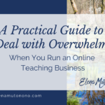 A Practical Guide to Deal with Overwhelm When You Run an Online Teaching Business