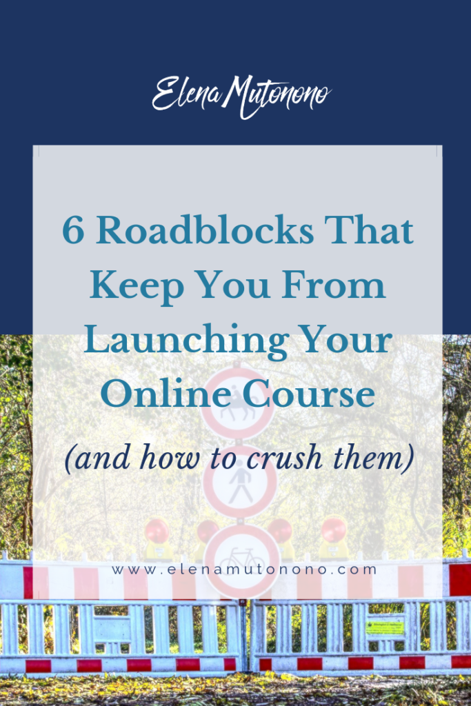 online course roadblocks