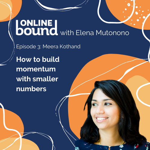 How to build momentum with smaller numbers