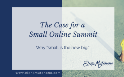 The case for a small online summit